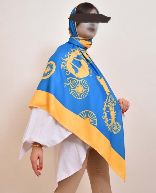 روسری طرح کالسکه کد sc-1018